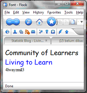 Community of Learners-Computer Tutorial-Tutorial Komputer-Living to Learn-HTML-Directory List