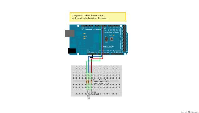 Skematik Rangkaian LED RGB - SobatKreatif
